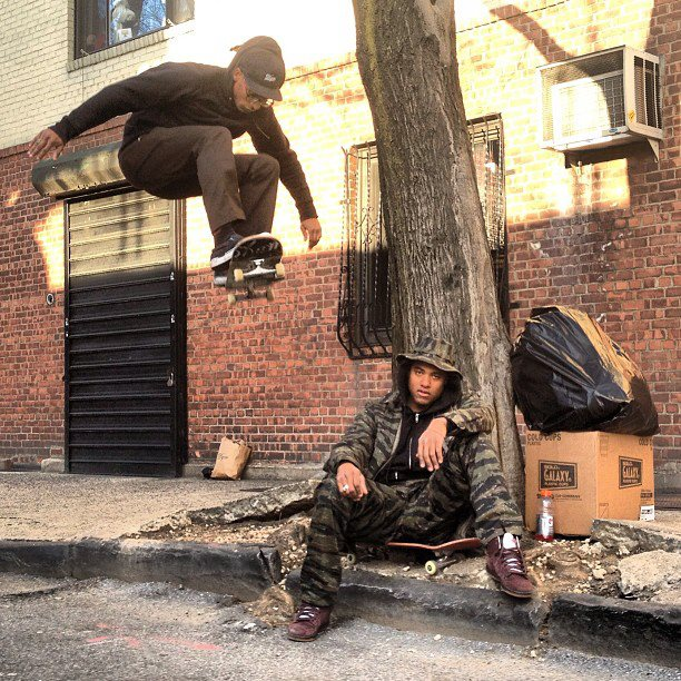 keithdenley ollies over an extra from a Boot Camp Click video.