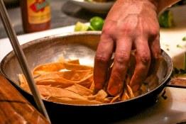 Strips of tortilla