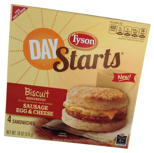 Tyson Day Starts Sausage Egg & Cheese Biscuit