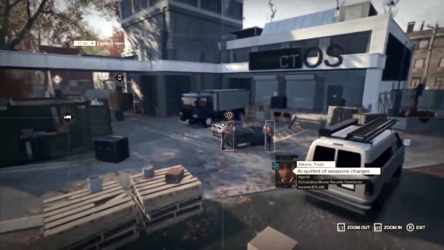 Watch Dogs gameplay video featuring user interface