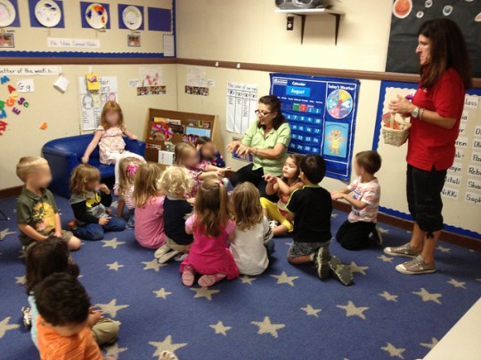 circle time at kindercare
