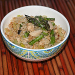 Asparagus and Leek Fried Rice