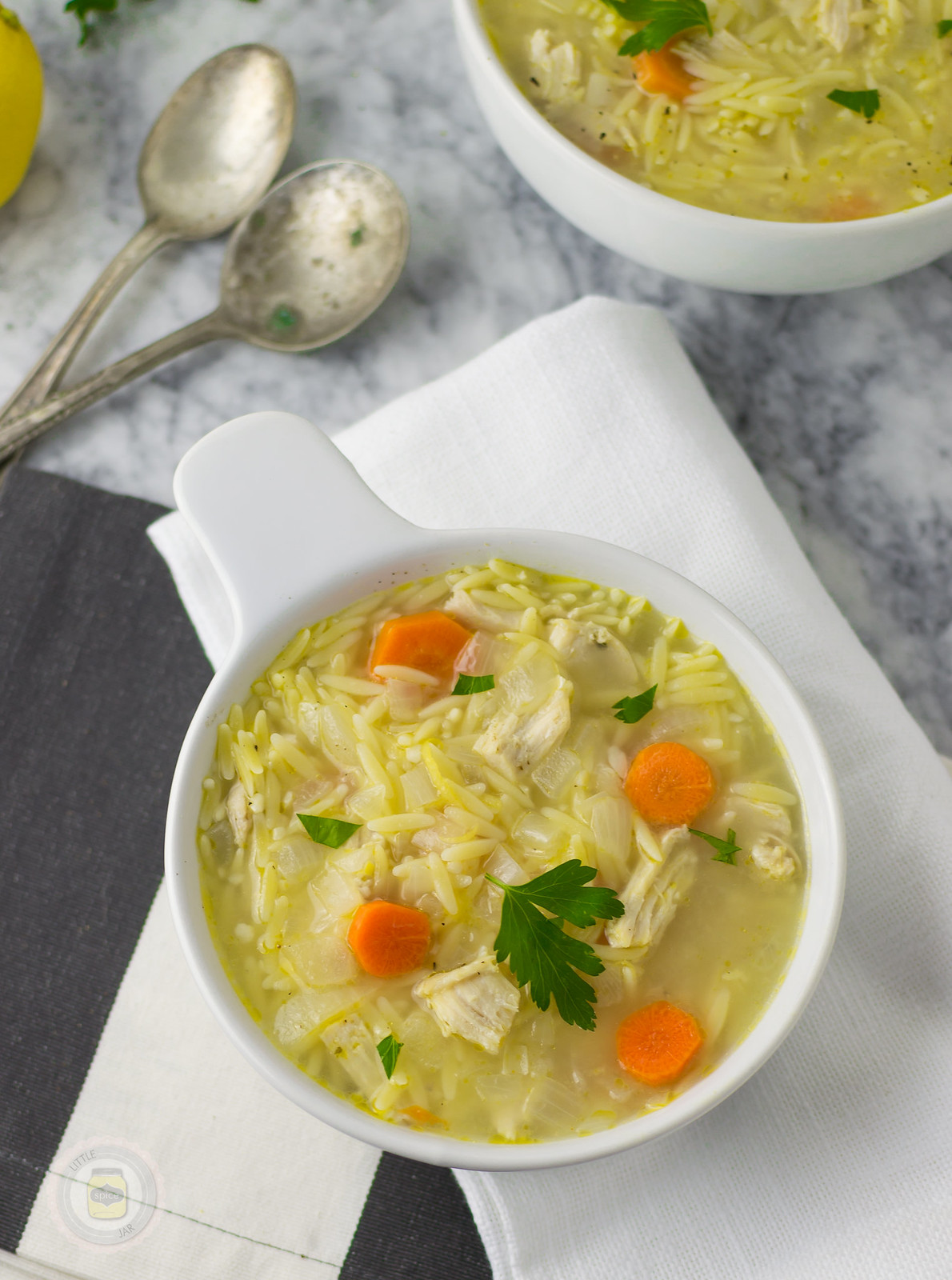 Lemongrass Chicken Orzo Soup 4Z