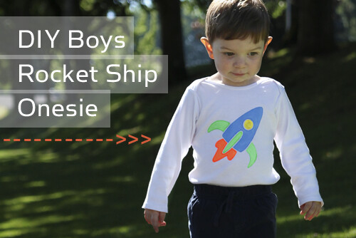 DIY Boys Rocket Ship Onesie Tutorial