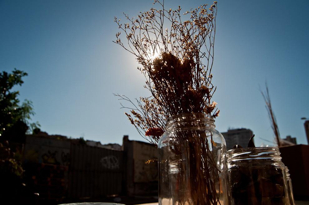 Para este evento, se decoraron las mesas con ramas y flores secas, símbolos de la actual situación de nuestra tierra, que se está secando, se está quedando sin bosques por la inconsciencia del hombre moderno. (Elton Núñez)