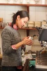 Moeno making matcha Basho Cafe
