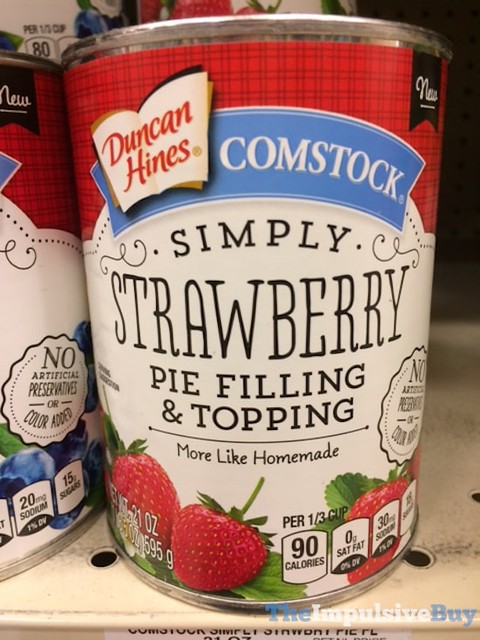 Duncan Hines Comstock Simply Strawberry Pie Filling & Topping