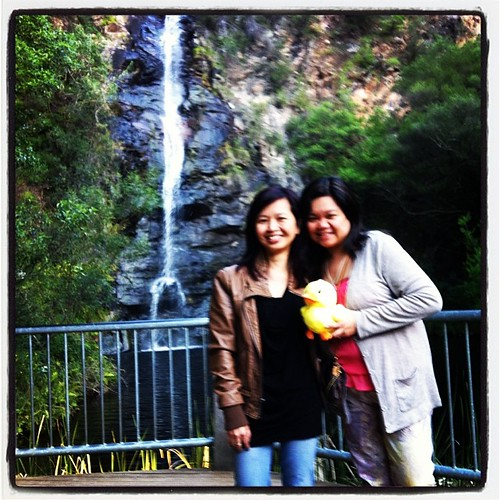 With @mrsgooding at Waterfall Gully.