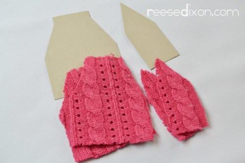 Miniature Sweater Ornament Tutorial Step 1