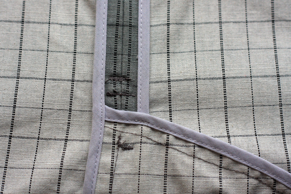 Bias Bound Seams on Coat