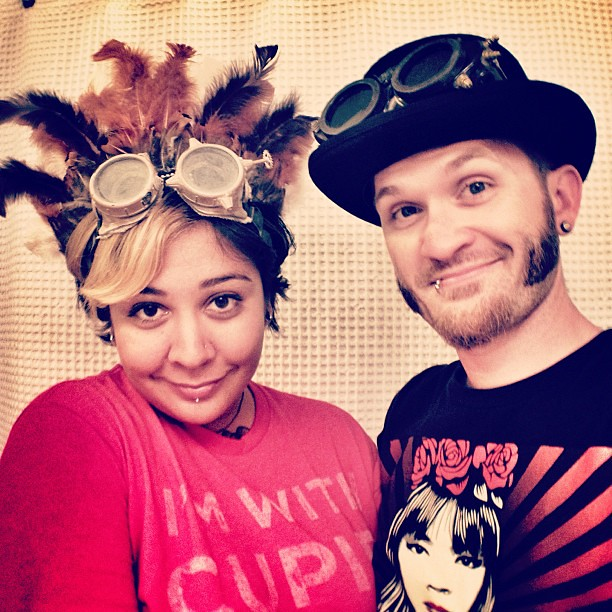102/365 A sneak peek into our #Flipside headpieces (#BurningMan regional). All hand made my moi. #365days