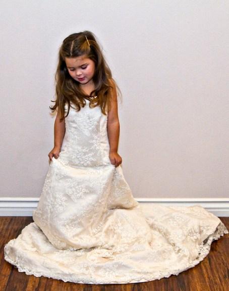 wearing my wedding dress