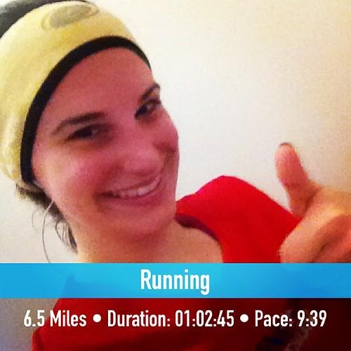 Longest run since June! And decent speed too! #running #fitsnap