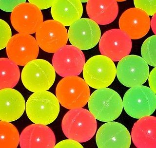 glowing bouncing balls
