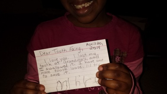 Mihret's note to the tooth fairy