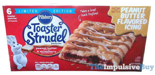 Pillsbury Limited Edition Peanut Butter & Strawberry Toaster Strudel