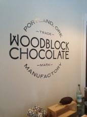 19 woodblock chocolates