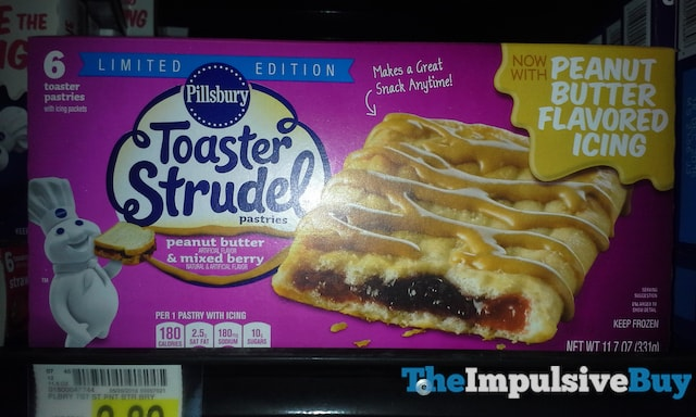 Pillsbury Limited Edition Peanut Butter & Mixed Toaster Strudel Pastries
