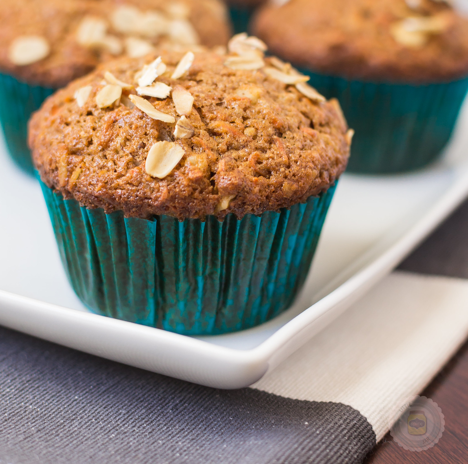 Super Moist and Healthy Carrot Cake Muffins Final Shot 2 Cropped