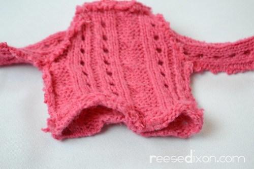 Miniature Sweater Ornament Tutorial Step 6