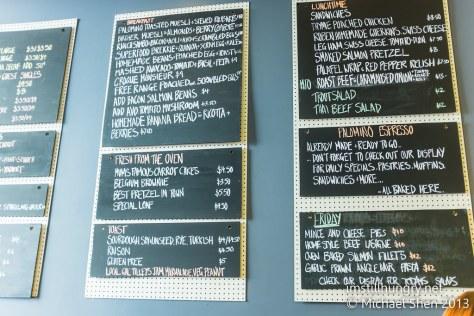 Palomino espresso menu