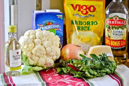 Cauliflower, Onion and Greens Risotto-1
