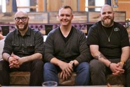 Belgard Kitchen sous chef Mark Reder, executive chef Reuben Major, chef de cuisine Jason Masuch