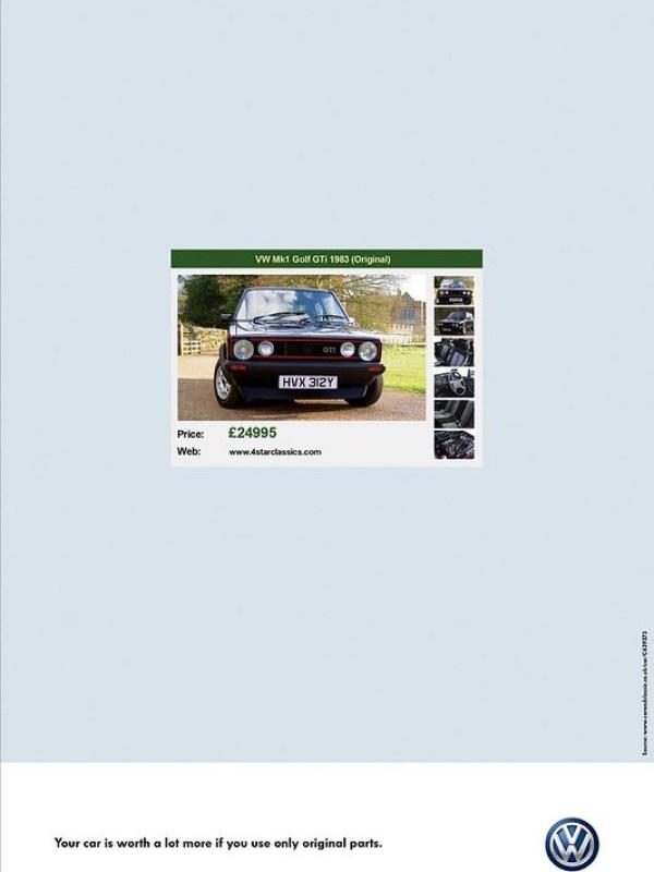 Volkswagen Original Parts - Golf
