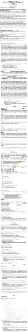 CBSE Board Exam 2014 Sample Papers (SA2) Class IX - English Lang. & Lit.