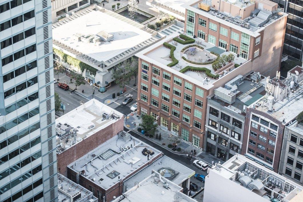 Imagen gratis de unos edificios vistos desde las alturas