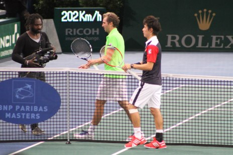 Kei Nishikori and Julien Benneteau