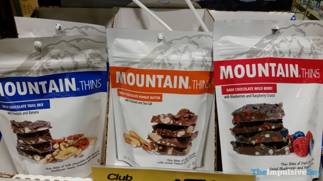 Mountain Thins (Milk Chocolate Trail Mix, Milk Chocolate Peanut Butter, and Dark Chocolate Wild Berry)