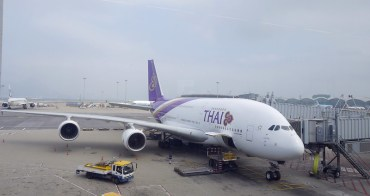 泰國航空 TG A380商務艙 HKG-BKK飛行紀錄