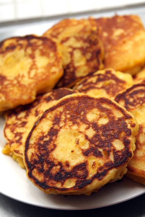Fresh corn cakes - blog
