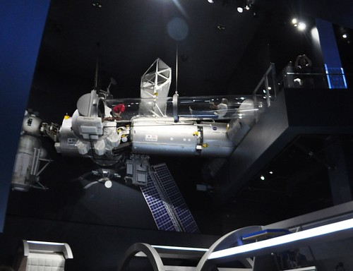 Crawl through a 22-foot-long clear tube suspended 25 feet in the air to feel sensation of weightlessness in space. Space Shuttle Atlantis, Kennedy Space Center, Florida, June 29, 2103