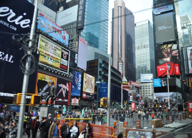 Times Square as Seen From - On Location Tours: TMZ Tour NYC, New York, Nov. 2014