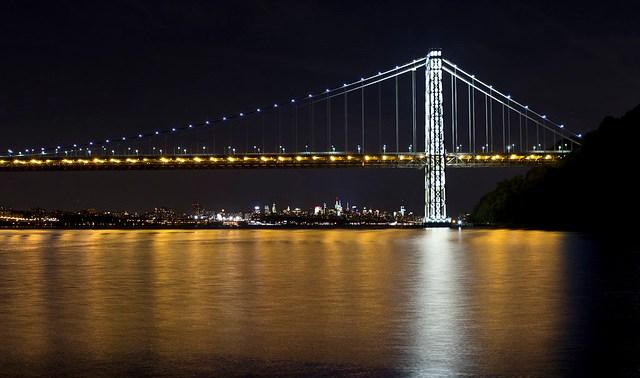 George Washington Bridge Illuminated