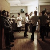 Post Service Hanging Out  West Coast Dinner | Departure Lounge | Chefs Week PDX