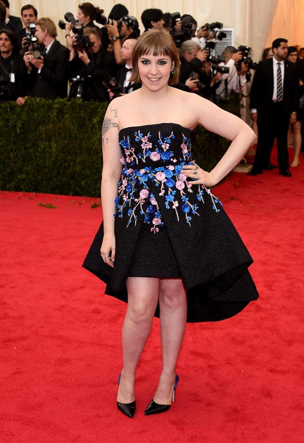 2014 Met Ball Best Dressed Lena Dunham in Giambattista Valli
