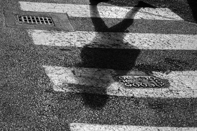 Shadow on crosswalk