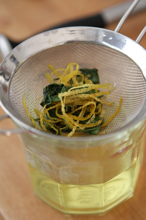lemon-basil syrup
