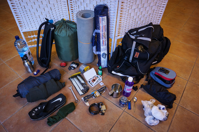 No-budget cycle touring packing list
