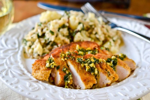 Pan-Roasted Turkey Cutlets with Orange Gremolata-9