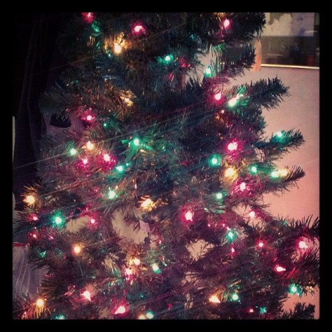 #lights on the #christmastree #finallyup #fmsphotoaday