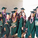 Global environmental science graduates at the University of Hawaii at Manoa commencement ceremony. May 11, 2013.