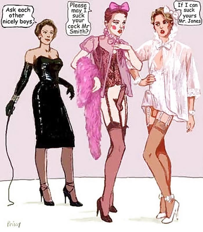 petticoat punishment art by christine