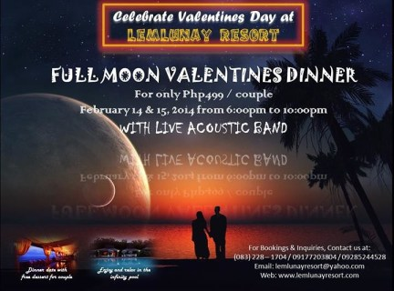 LEMLUNAY RESORT, FULL MOON VALENTINE DINNER