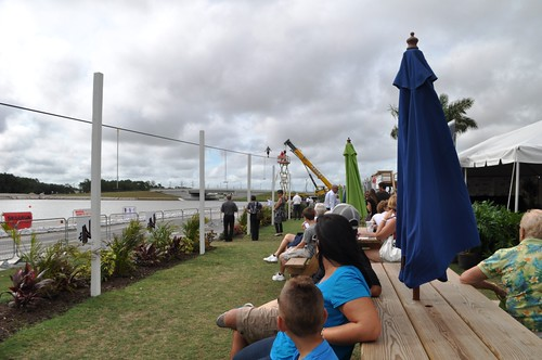 Nik Wallenda Trains Spectators Look On as Nik Wallenda Trains for June 23, 2013 Grand Canyon Walk at Nathan Benderson Park, Sarasota, Fla., Friday, June 7, 2013