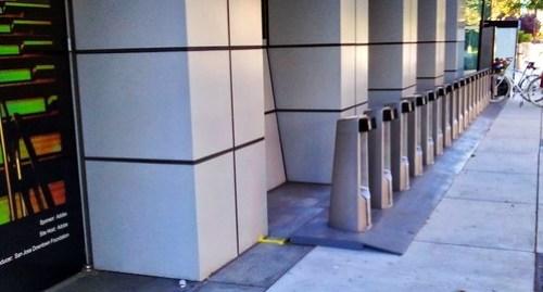 Adobe building Bay Area Bikeshare station