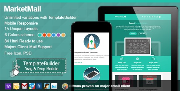 Market Responsive E-mail With Templates Builder